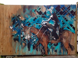 baltimore street art - horse and indian