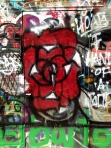 baltimore street art - rose