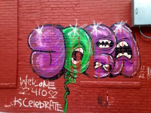 baltimore street art - welcome 410