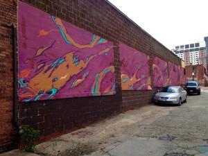 baltimore street art - purple clouds