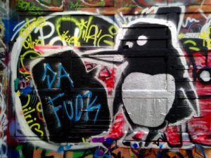 baltimore street art - da fuck penguins