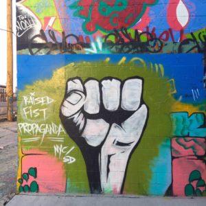 baltimore street art - raised fist propaganda